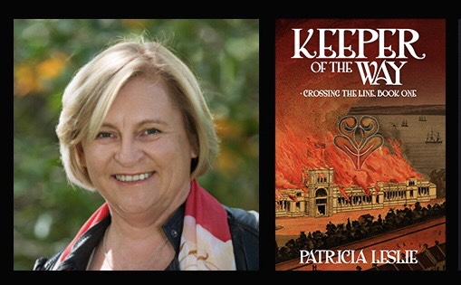 Front cover of Keeper of the Way and author Patricia Leslie.