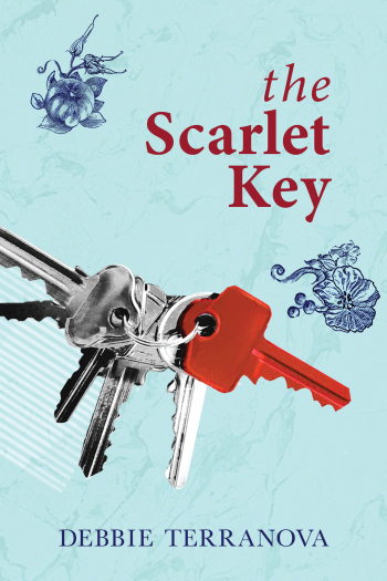 Front cover of The Scarlet Key by Debbie Terranova - book 2 in The Brisbane Mysteries.