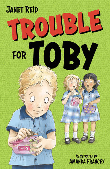 Front cover of Trouble for Toby by Janet Reid.