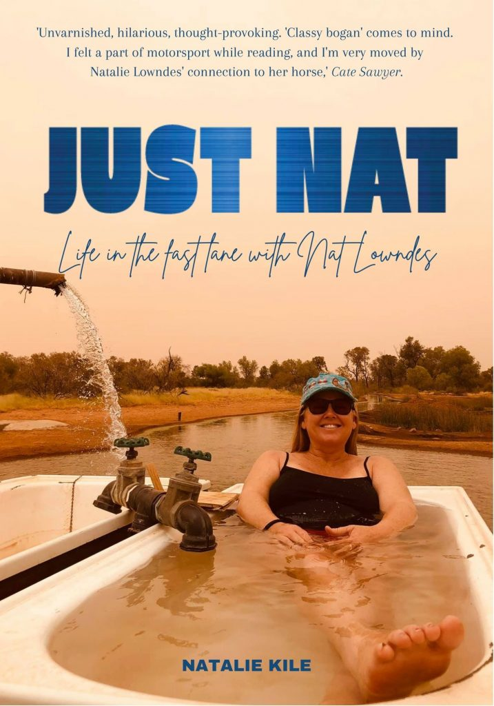Cover of Just Nat, the biography of Natalie Lowndes. Author Natalie Kile.